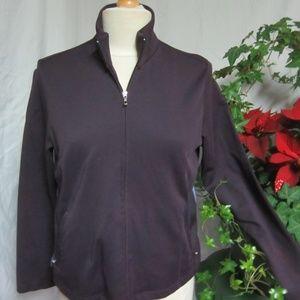 Lands End Purple Zip Front MP Medium Petite Jacket
